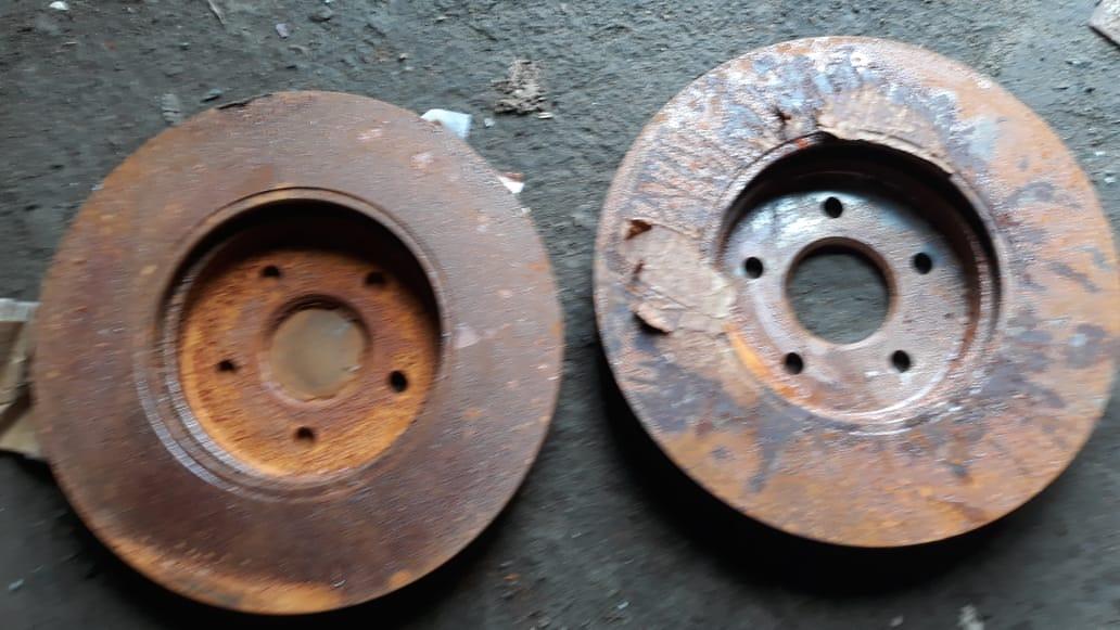 диск, новый, дефект ржавчина