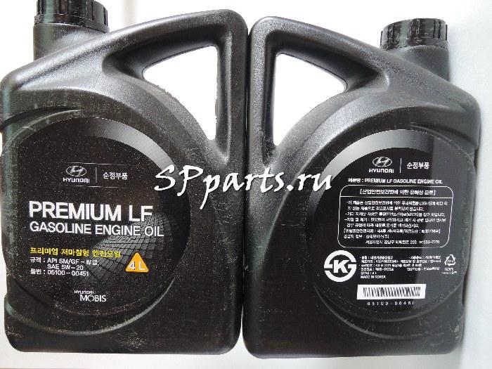 Масло моторное синтетическое, оригинальное HYUNDAI Premium LF Gasoline SAE 5W-20 SM/GF-4 (4л)
