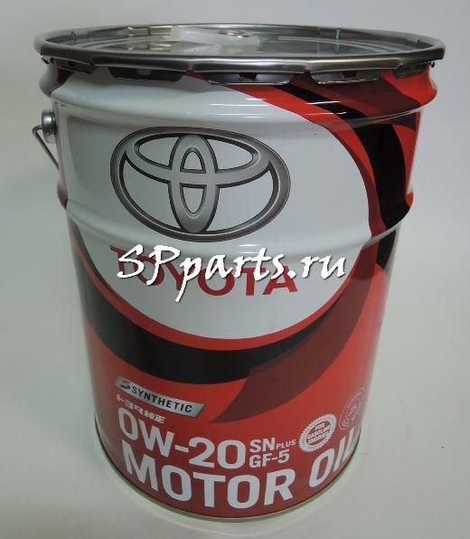 Мотороное масло оригинальное синтетическое Toyota (castle) Motor Oil SN_GF5  5W30 20 литров (Япония)