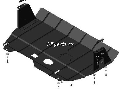 Защита Двигателя, КПП, радиатора для Ford Tourneo Custom 2013-2018 Мотодор
