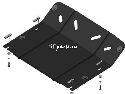 Защита Двигателя, переднего дифференциала для Porsche Cayenne 2002-2007 Мотодор